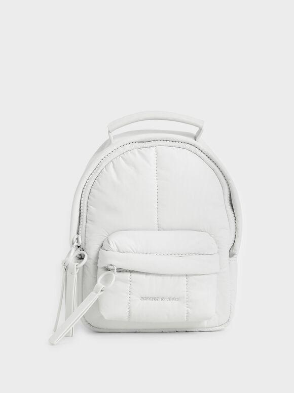 Puffy Backpack, White, hi-res