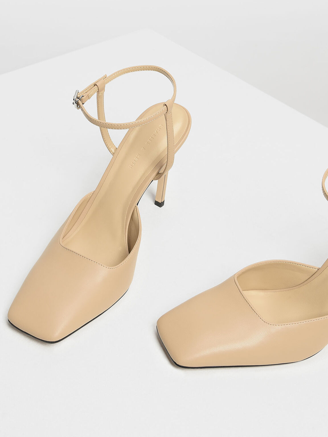 Square Toe Stiletto Pumps, Nude, hi-res