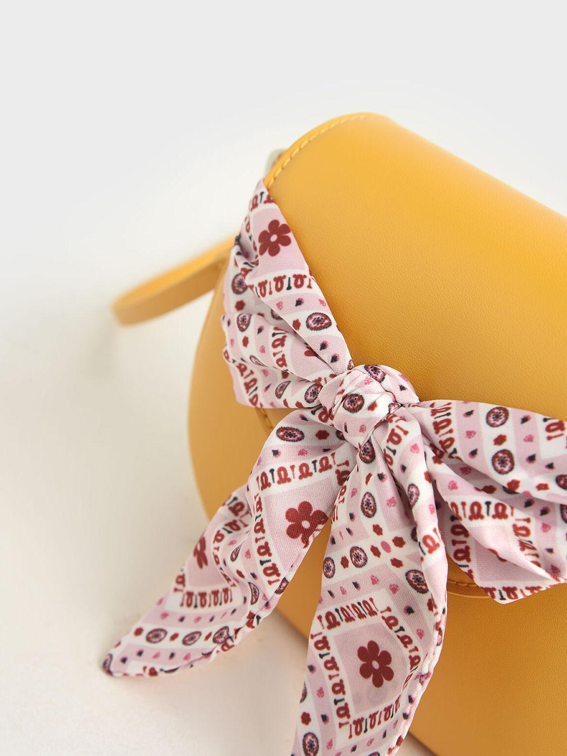Summer 2020 Responsible Collection: Girls' Bandana Print Bow Crossbody Bag, Yellow, hi-res