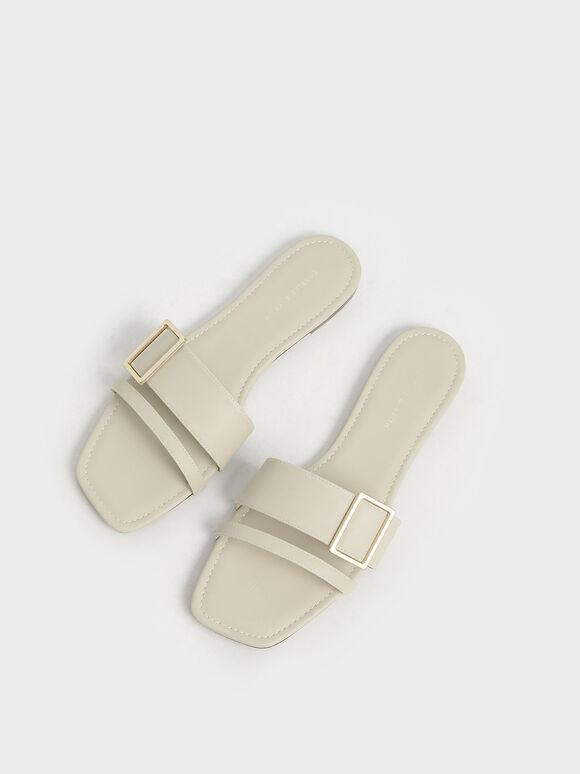 方釦雙帶拖鞋, 石灰白, hi-res