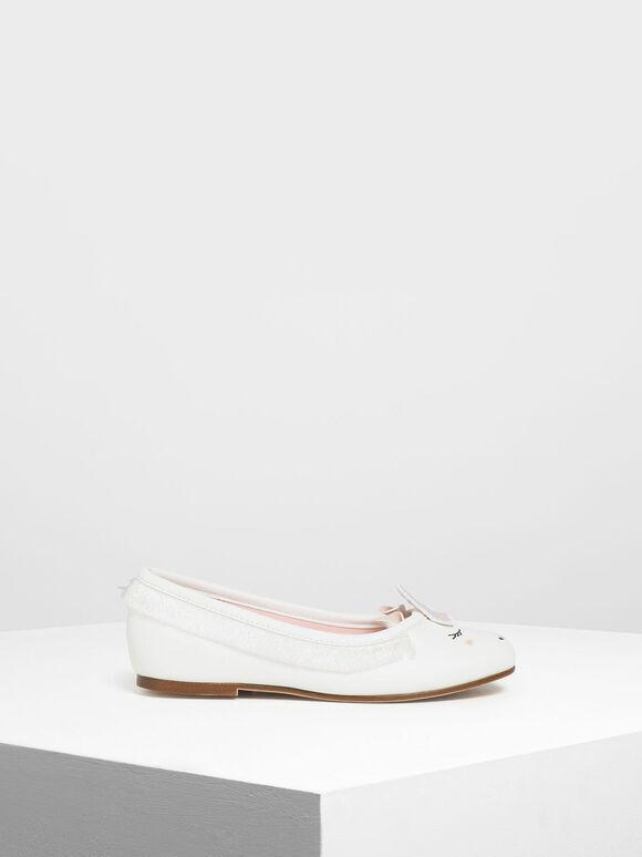 兒童獨角獸平底鞋, 白色, hi-res