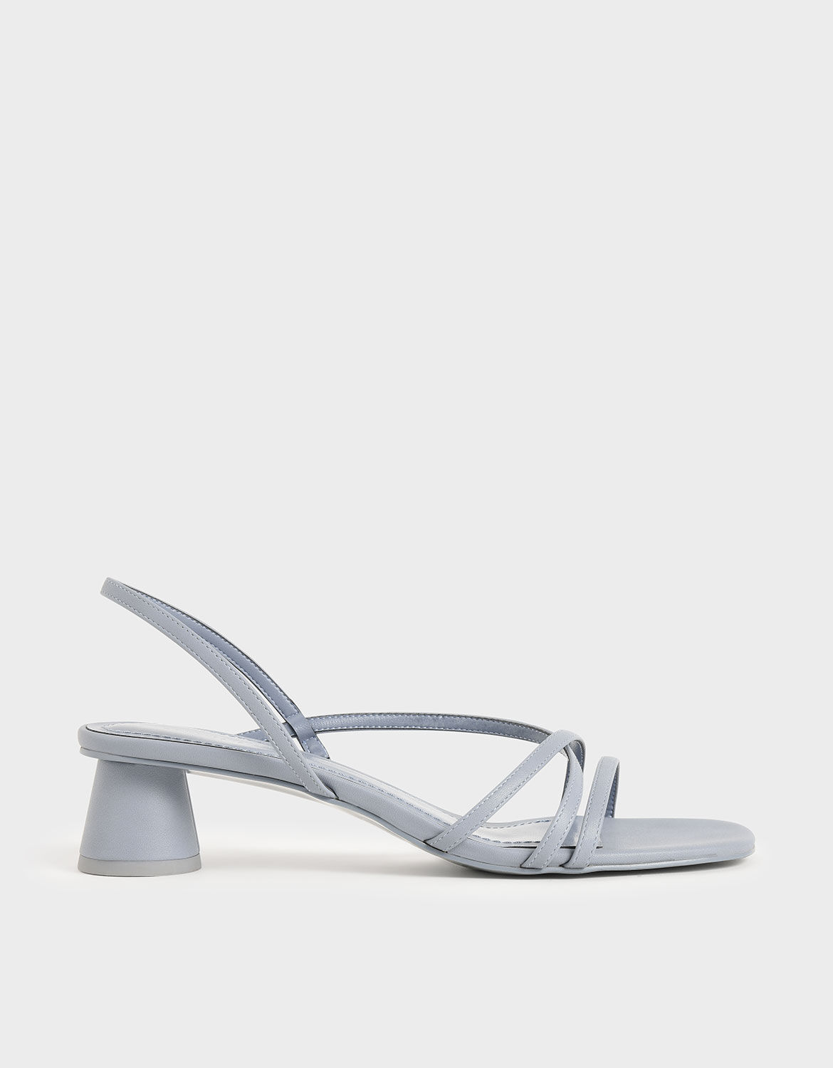 Light Blue Strappy Cylindrical Heel