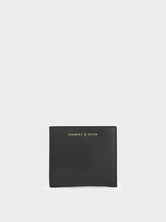 Square Small Wallet, Black, hi-res