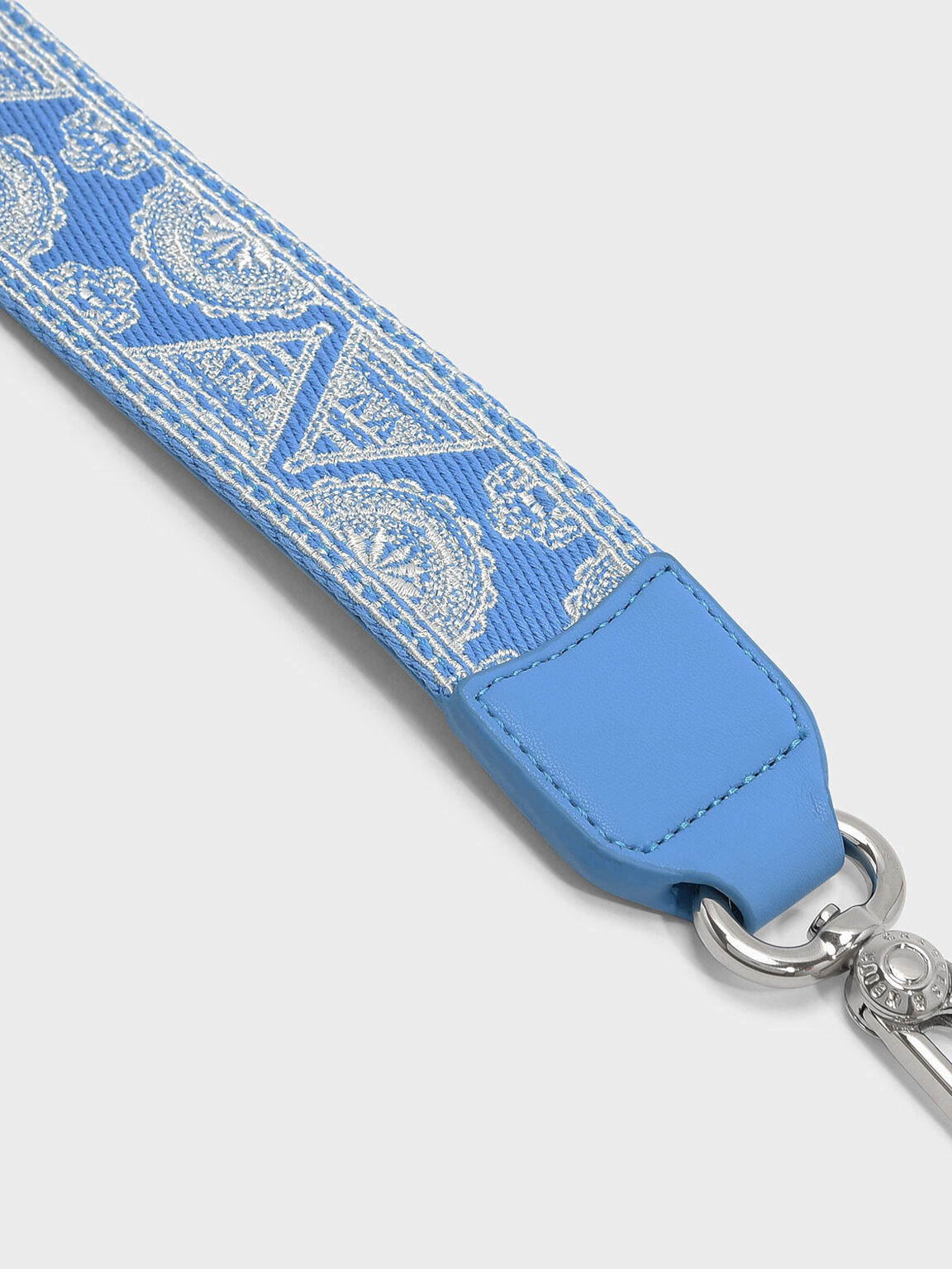 Printed Bag Strap, Blue, hi-res