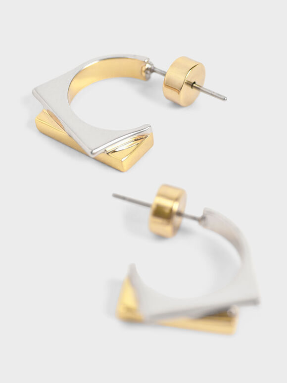 Sculptural Hoop Earrings, Multi, hi-res