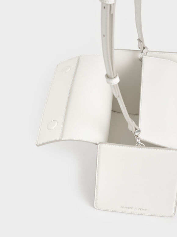 Slouchy Top Handle Bag, White, hi-res