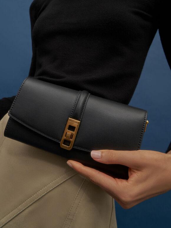 扭轉手提長夾, 黑色, hi-res