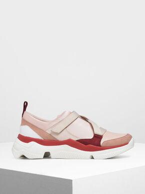 Velcro Slip-On Sneakers, Light Pink
