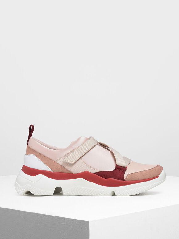 Velcro Slip-On Sneakers, Light Pink, hi-res