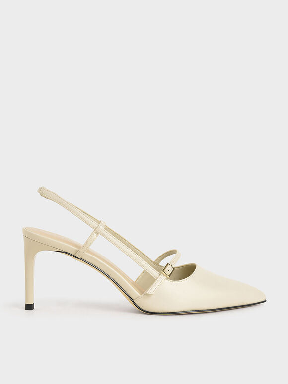 Mary Jane Slingback Pumps, Chalk, hi-res