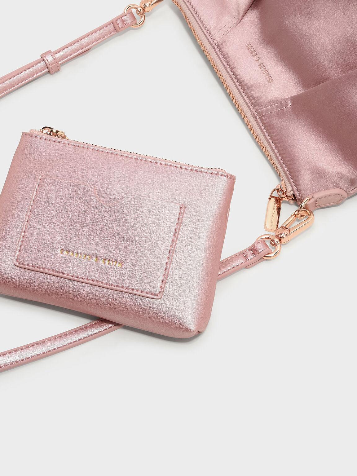 Top Zip Sling Bag, Pink, hi-res