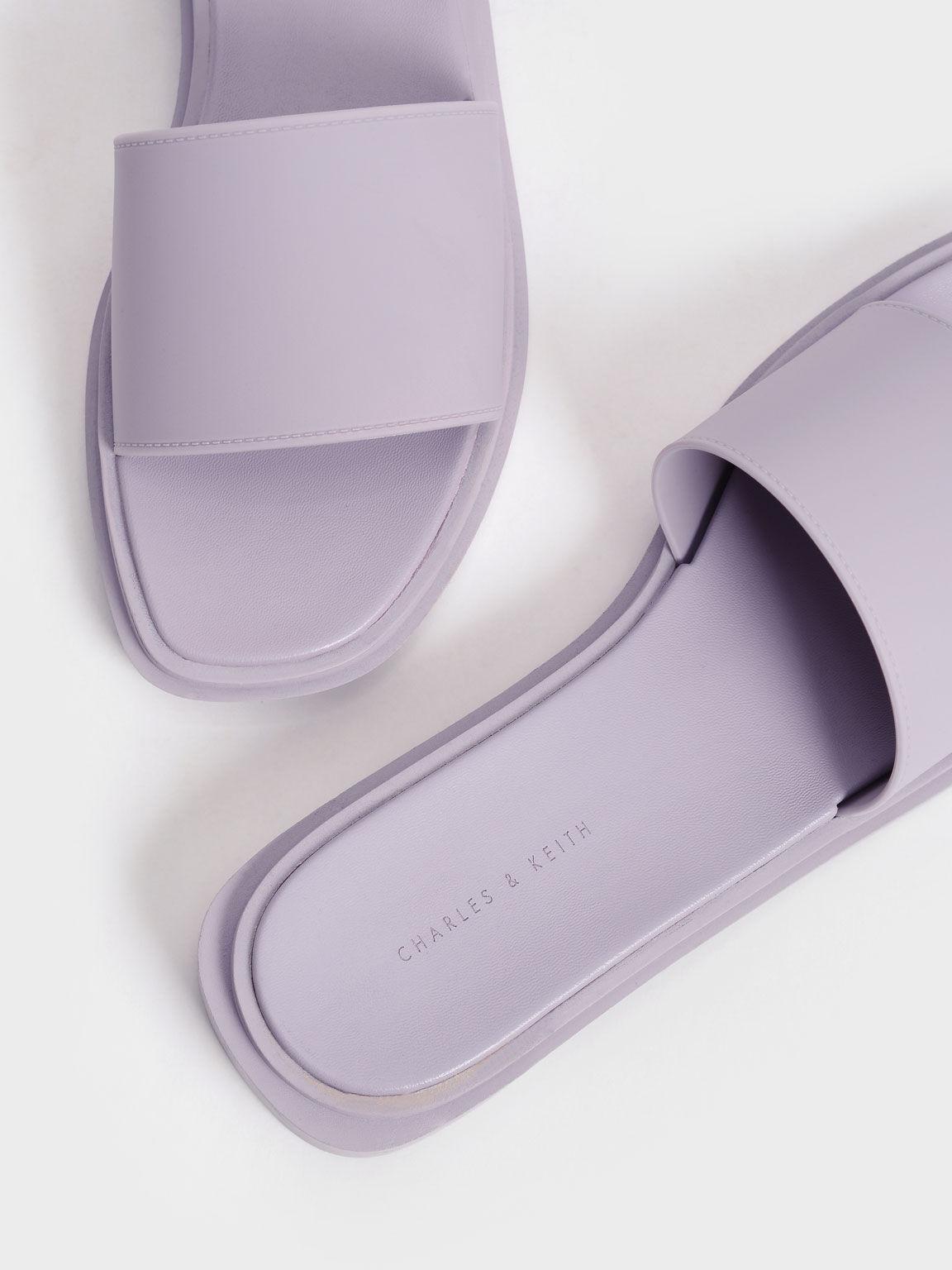 Slide Sandals, Lilac, hi-res