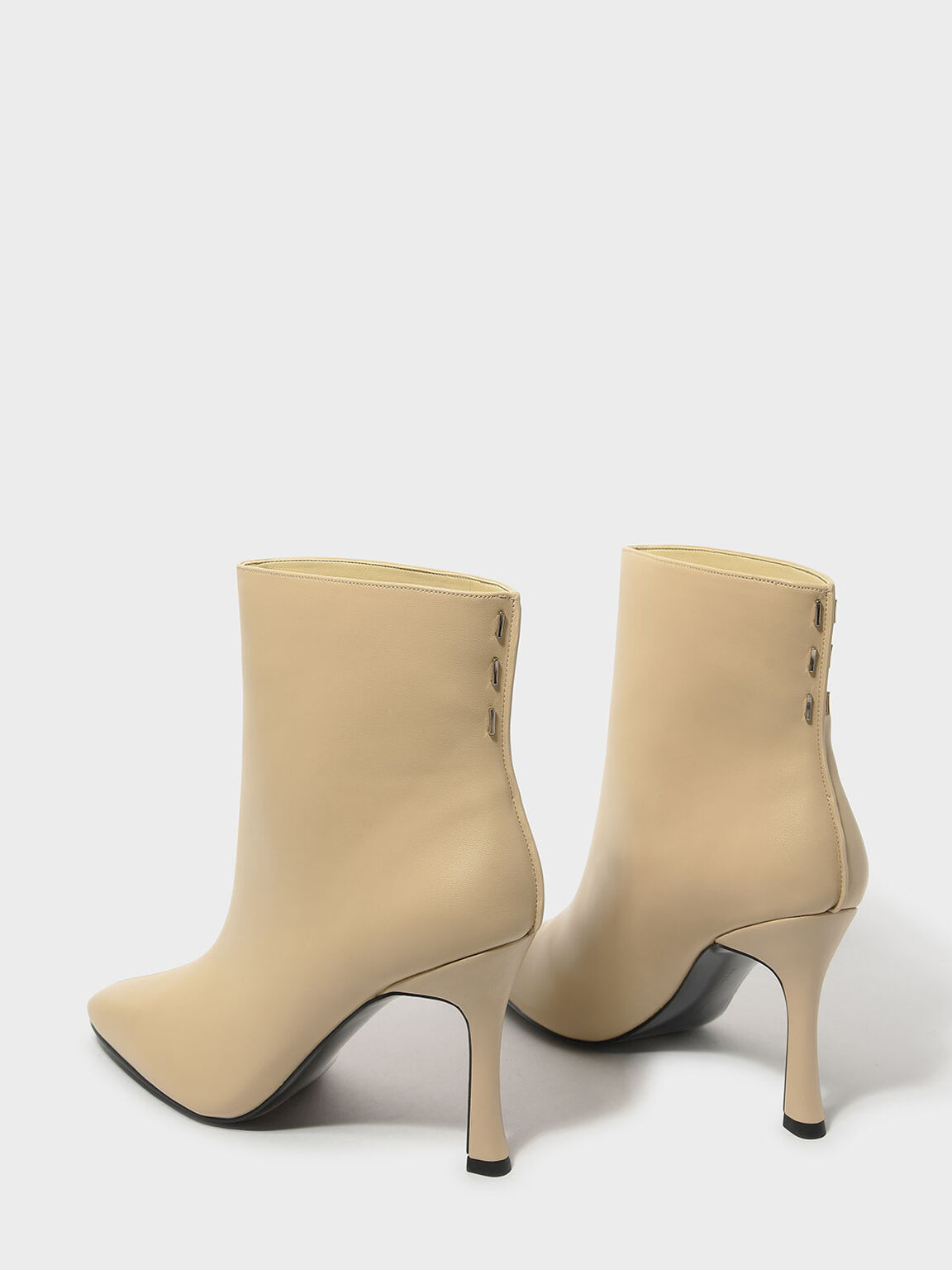Mini Square Toe Boots, Nude, hi-res