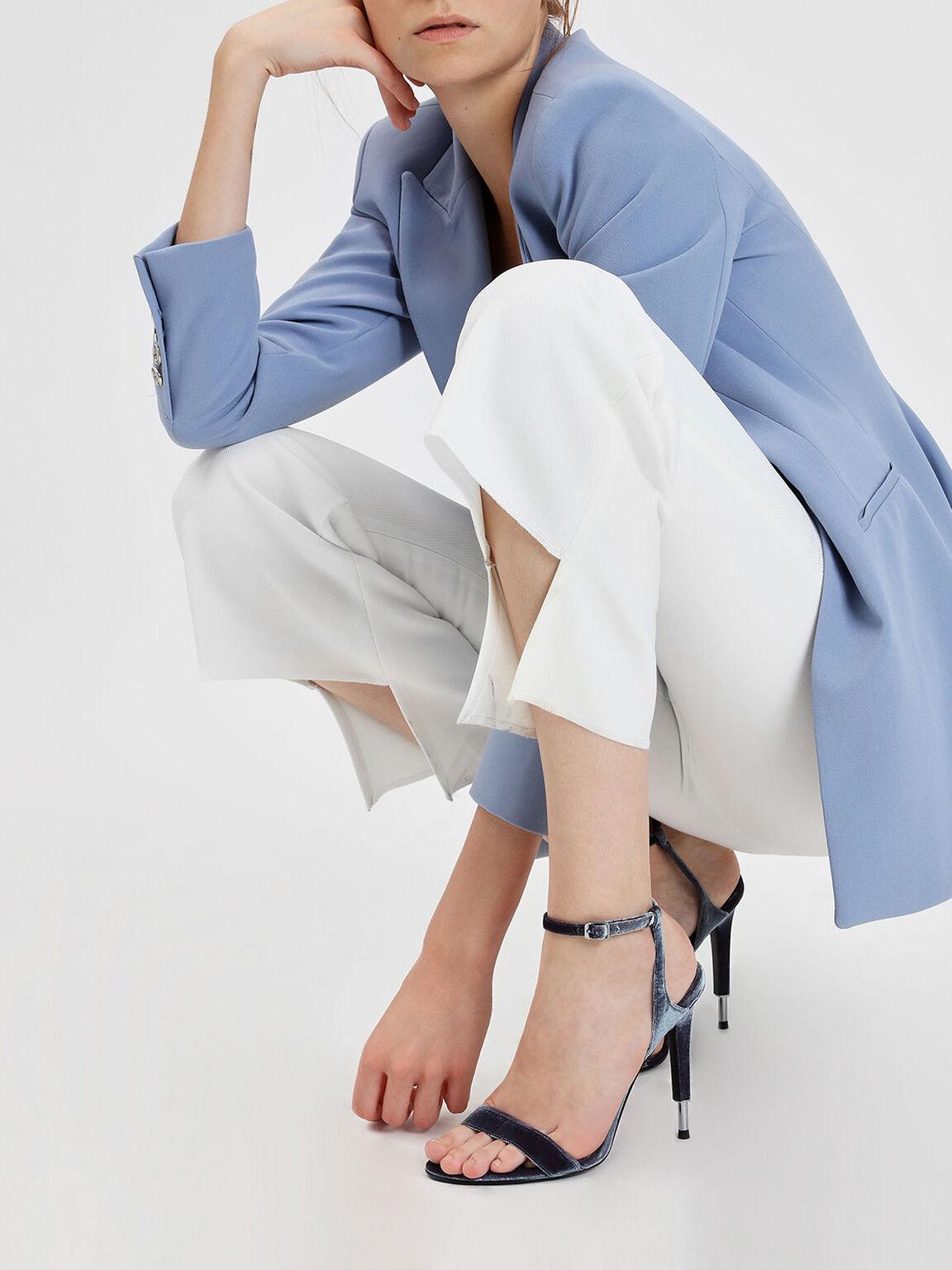 Stiletto Leather Sandals, Purple, hi-res