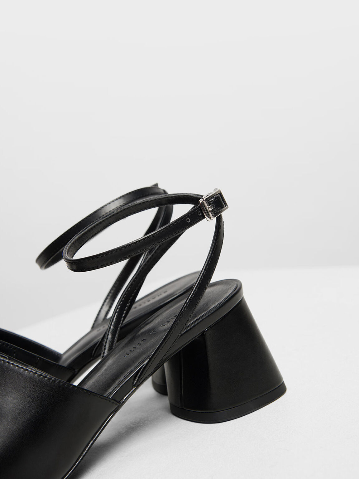 Closed Toe Block Heel Sandals, Black, hi-res