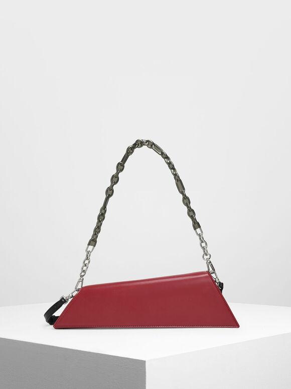Asymmetrical Bar Clutch, Red, hi-res