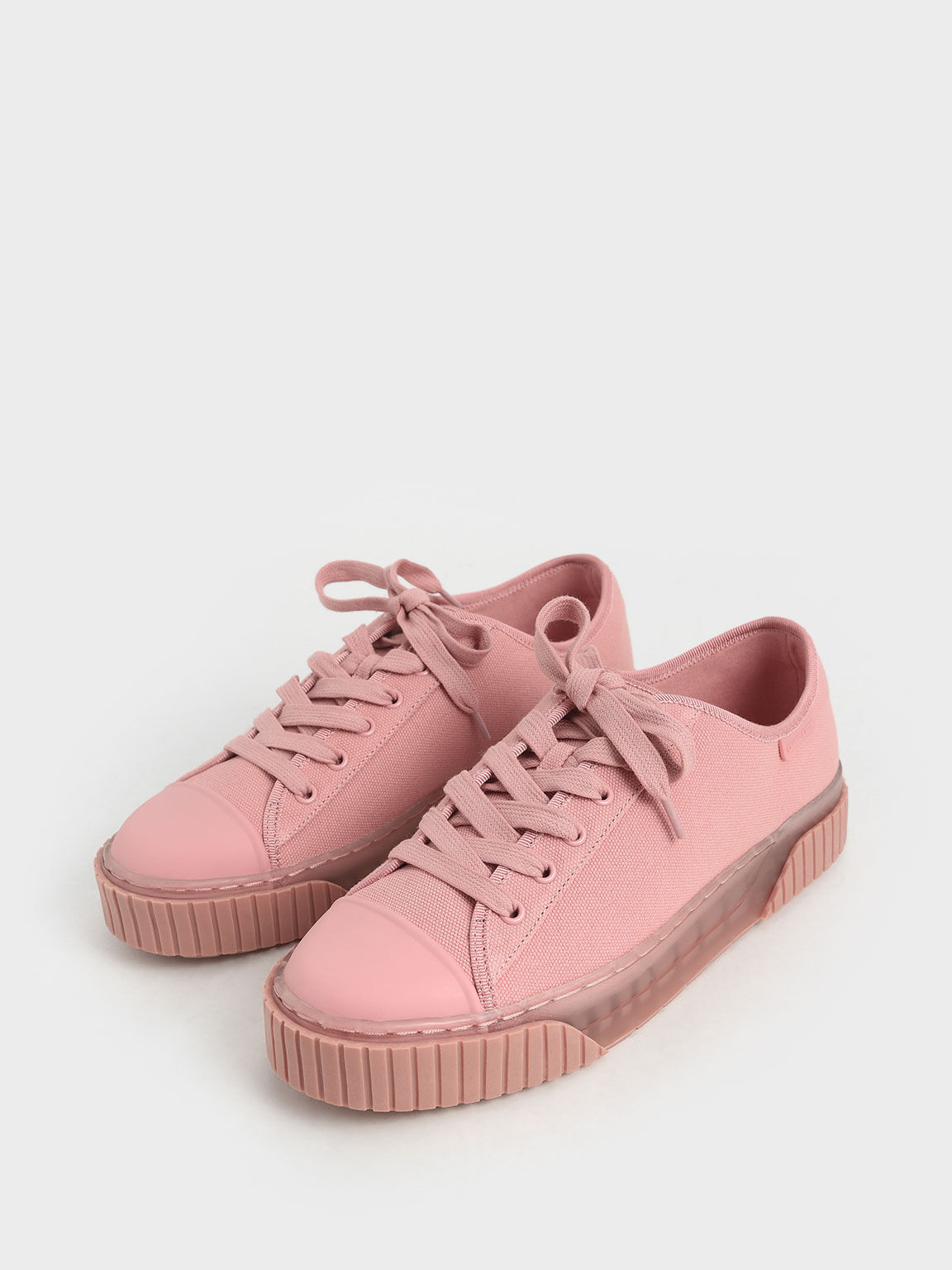 Purpose Collection 2021: Organic Cotton Platform Sneakers, Pink, hi-res