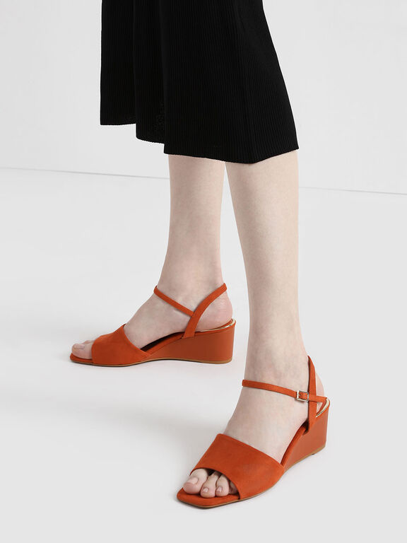 Ankle Strap Wedges, Brick