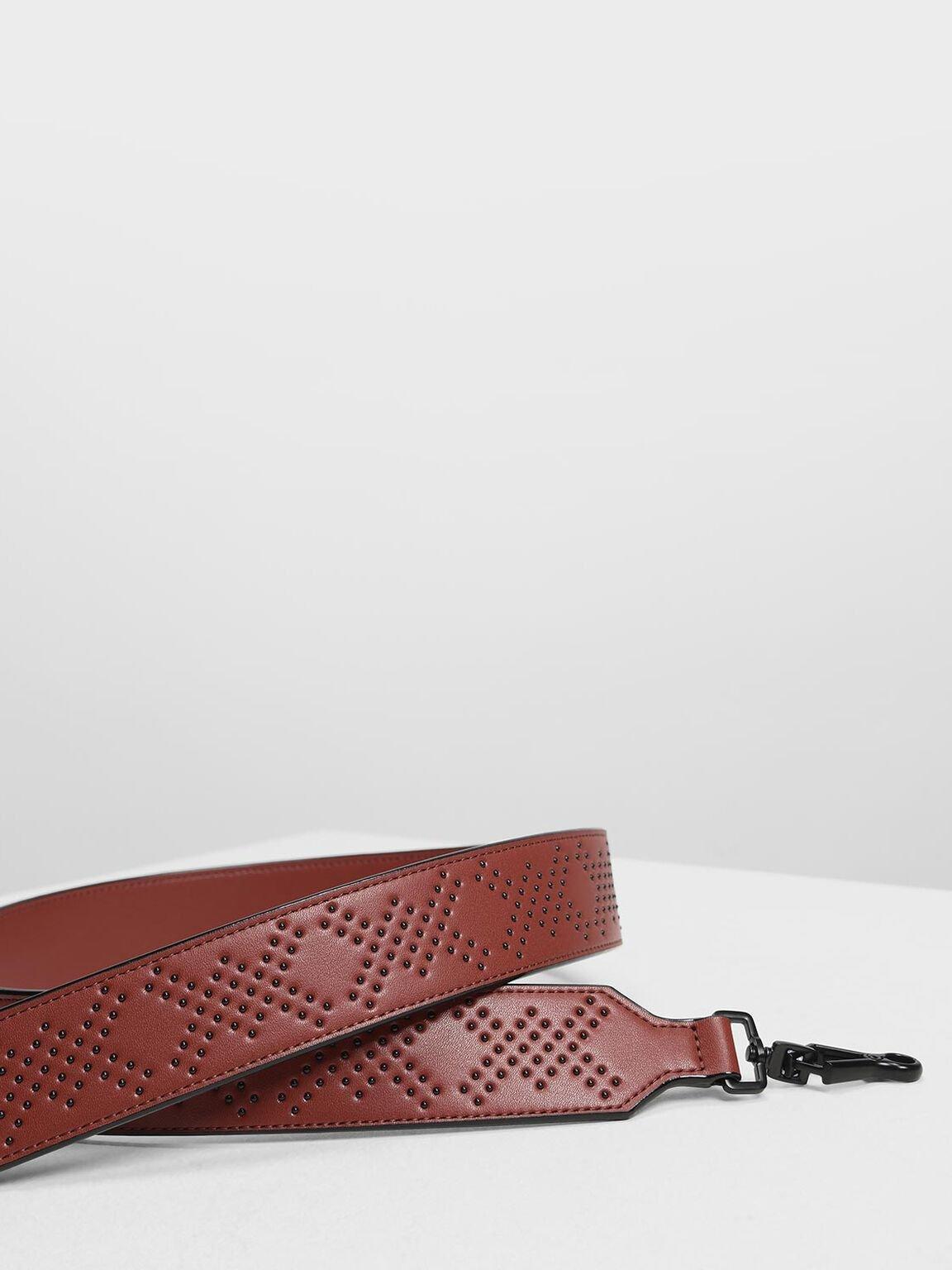 Double X Print Bag Strap, Brick, hi-res