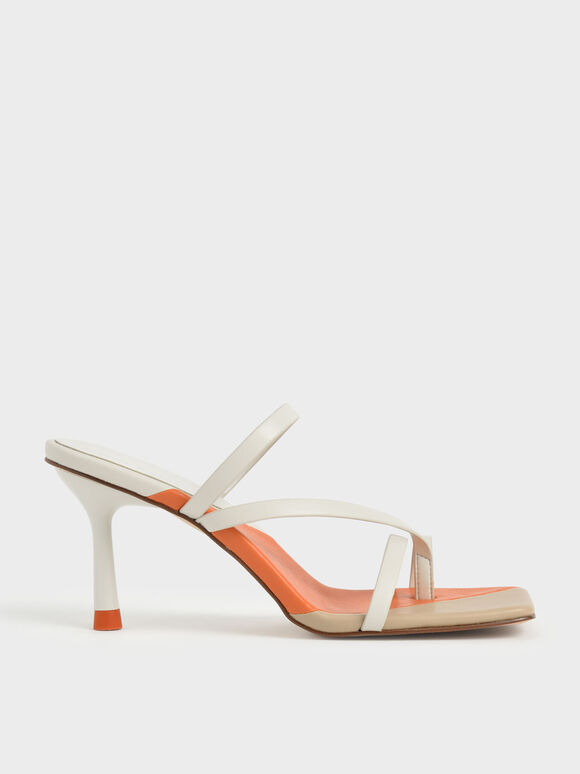 Molly Chiang Collection: Asymmetric Toe Ring Sandals, Chalk, hi-res