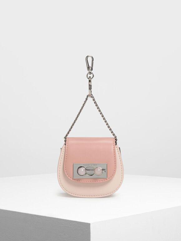 Mini Horseshoe Key Pouch, Light Pink, hi-res