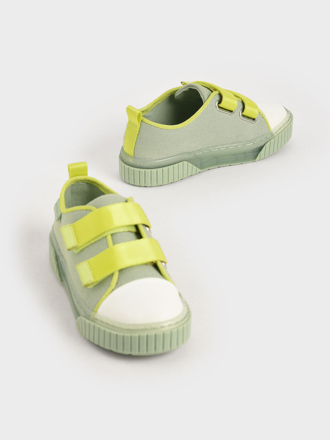 Purpose Collection 2021: Girls' Organic Cotton Sneakers, Mint Green, hi-res