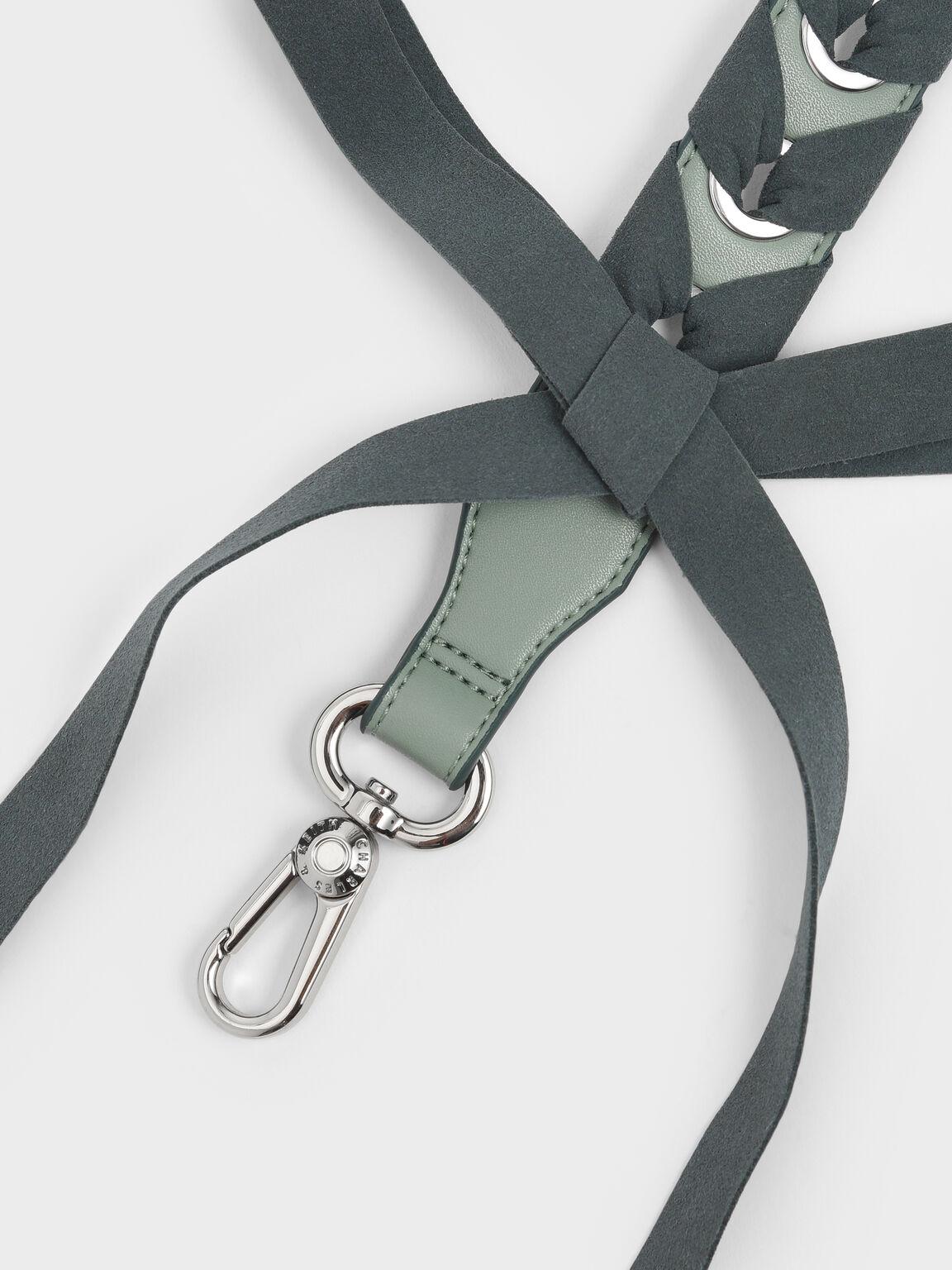 Braided Bag Strap, Sage Green, hi-res