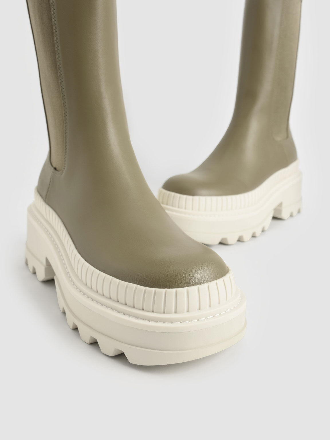 Rhys 厚底切爾西靴, 橄欖色, hi-res