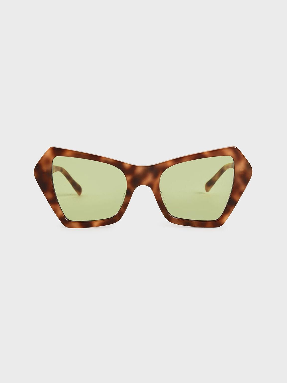 幾何粗框墨鏡, 玳瑁棕, hi-res