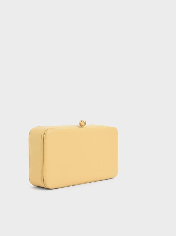 Boxy Twist Lock Crossbody Bag, Yellow, hi-res