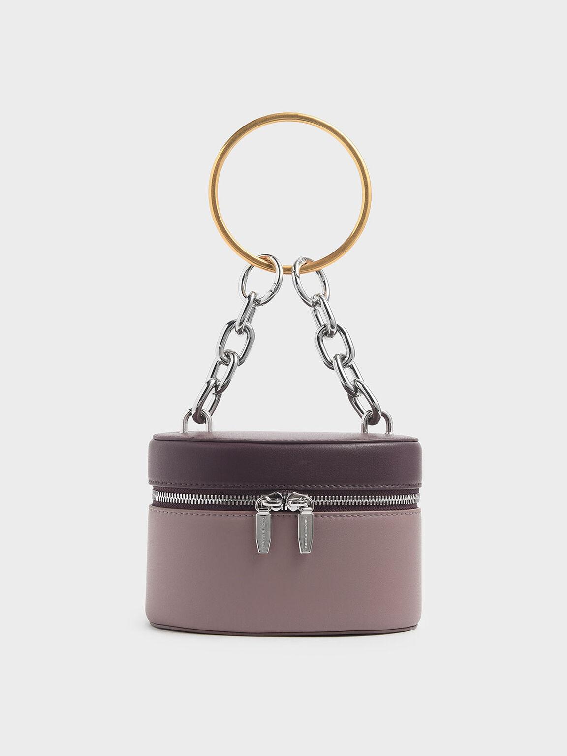 Bracelet Round Bag, Mauve, hi-res