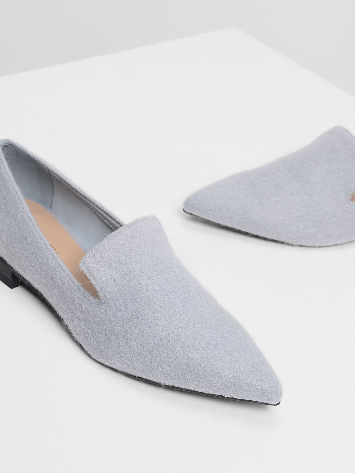 Classic Pointed Loafers, Light Blue, hi-res