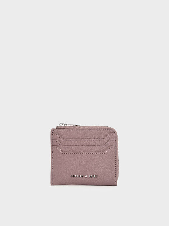 Small Zip Pouch, Mauve, hi-res