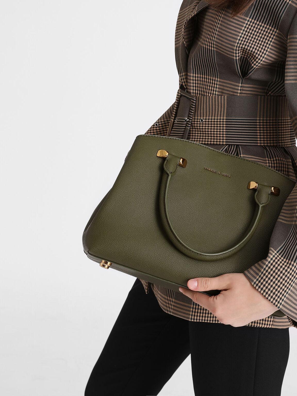 Classic Top Handle Bag, Olive, hi-res