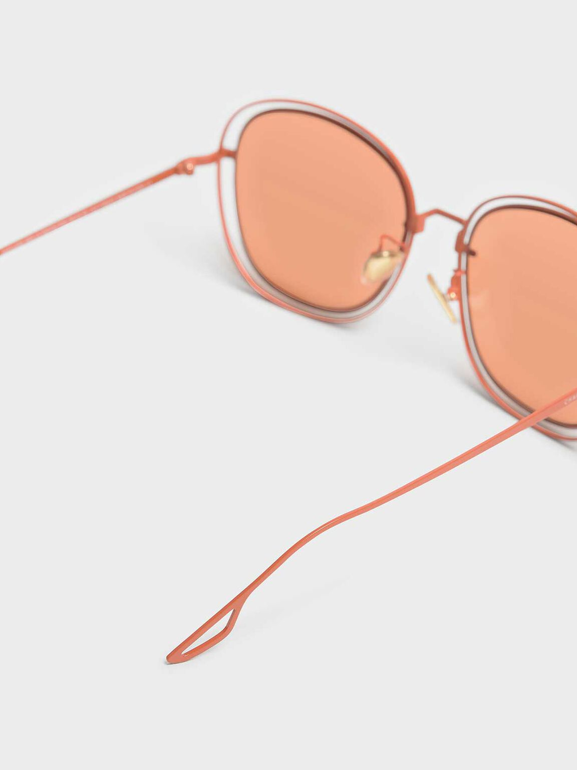 Double Wire Frame Shades, Orange, hi-res