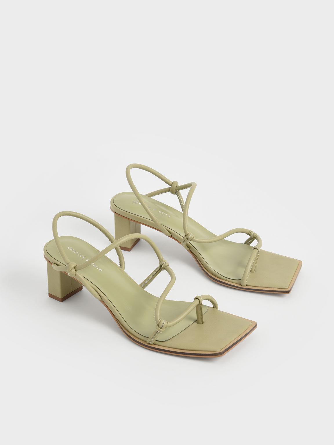 方頭夾腳涼鞋, 灰褐色, hi-res