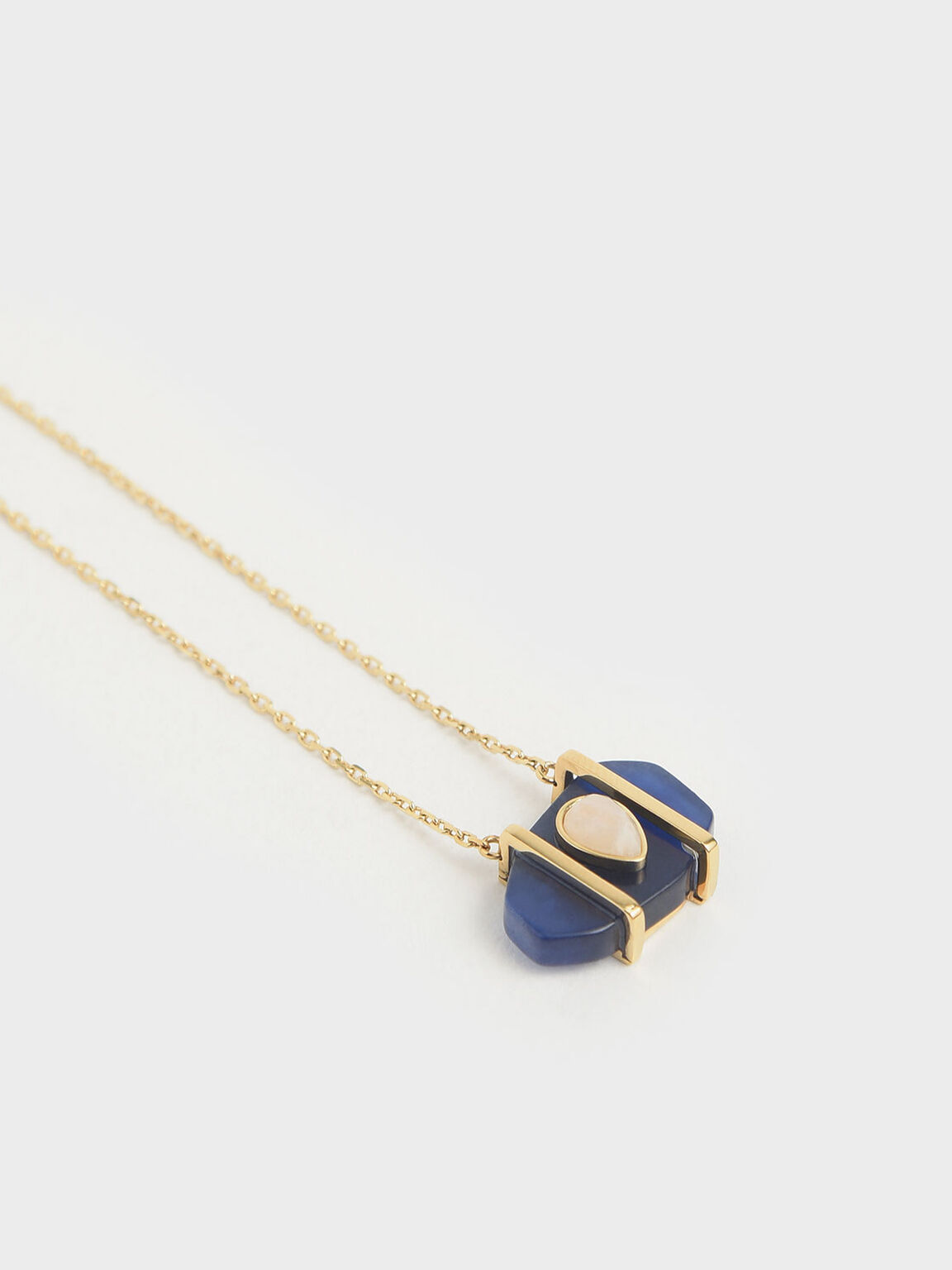 Sodalite & Moonstone Teardrop Choker Necklace, Dark Blue, hi-res