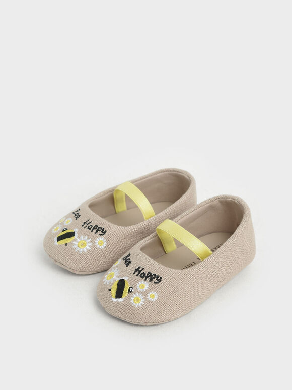 The Purpose Collection - Baby Girls' Bee Ballerinas, Beige, hi-res