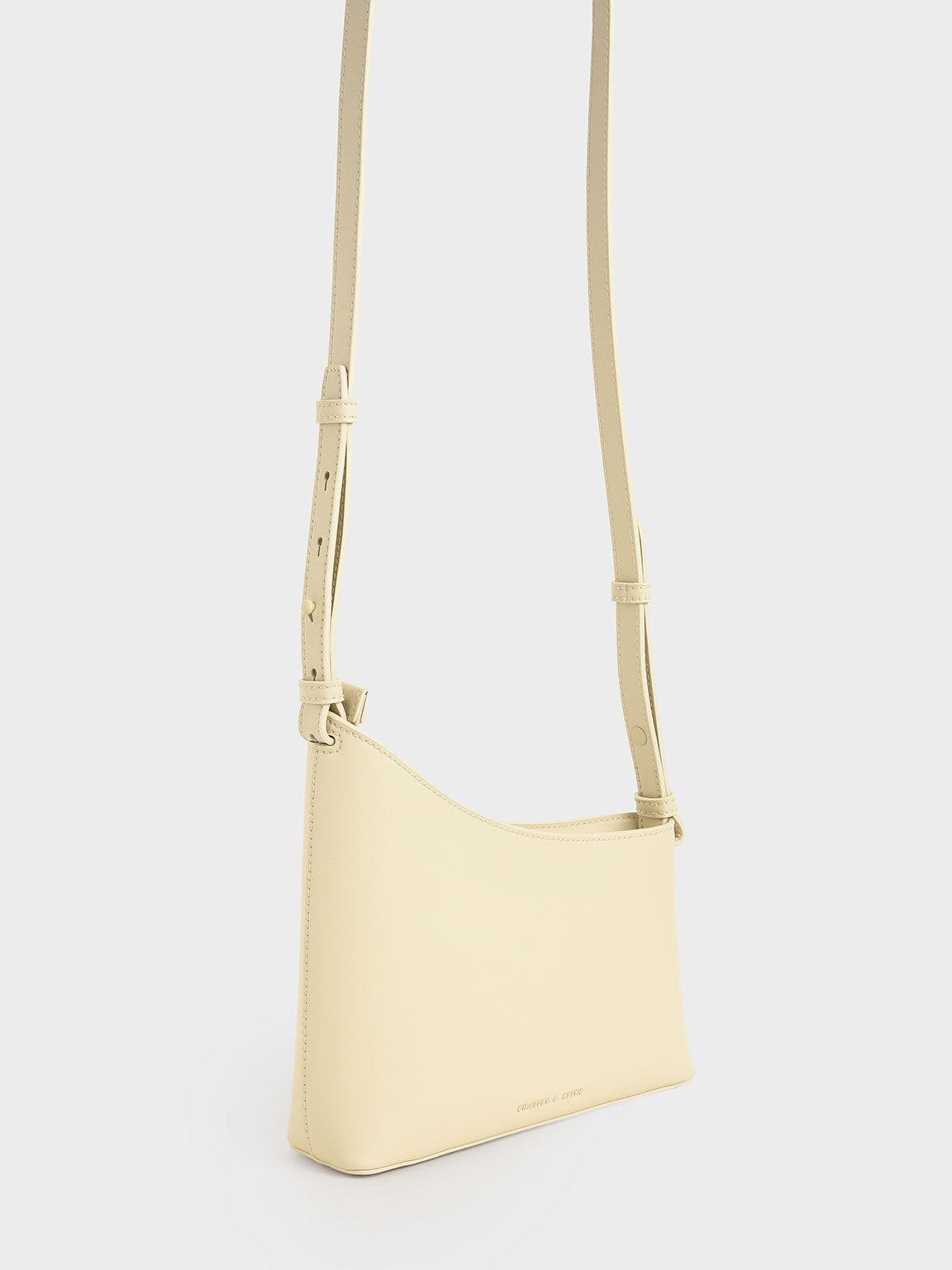 Asymmetrical Shoulder Bag, Chalk, hi-res