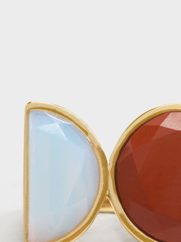 Opal Brass Ring, Red, hi-res