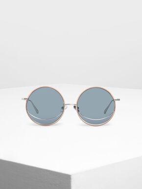 Circle Frame Sunglasses, Blue