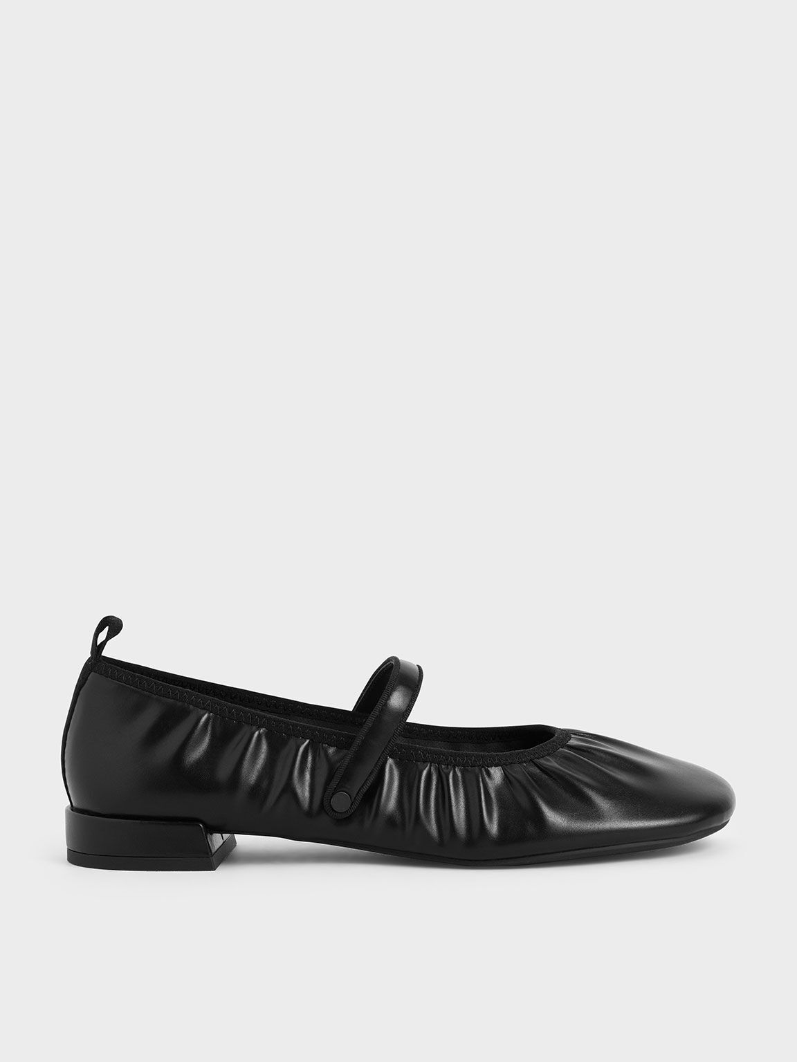 Mary Jane Flats, Black, hi-res