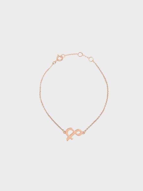 Ampersand Bracelet, Rose Gold, hi-res