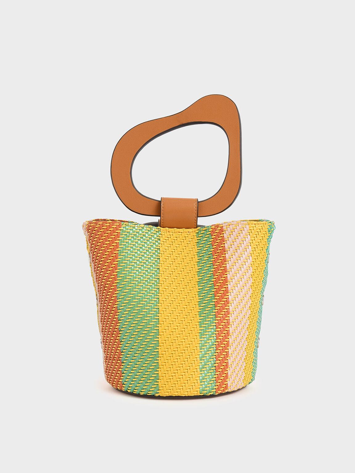 Sculptural Handle Bucket Bag, Multi, hi-res