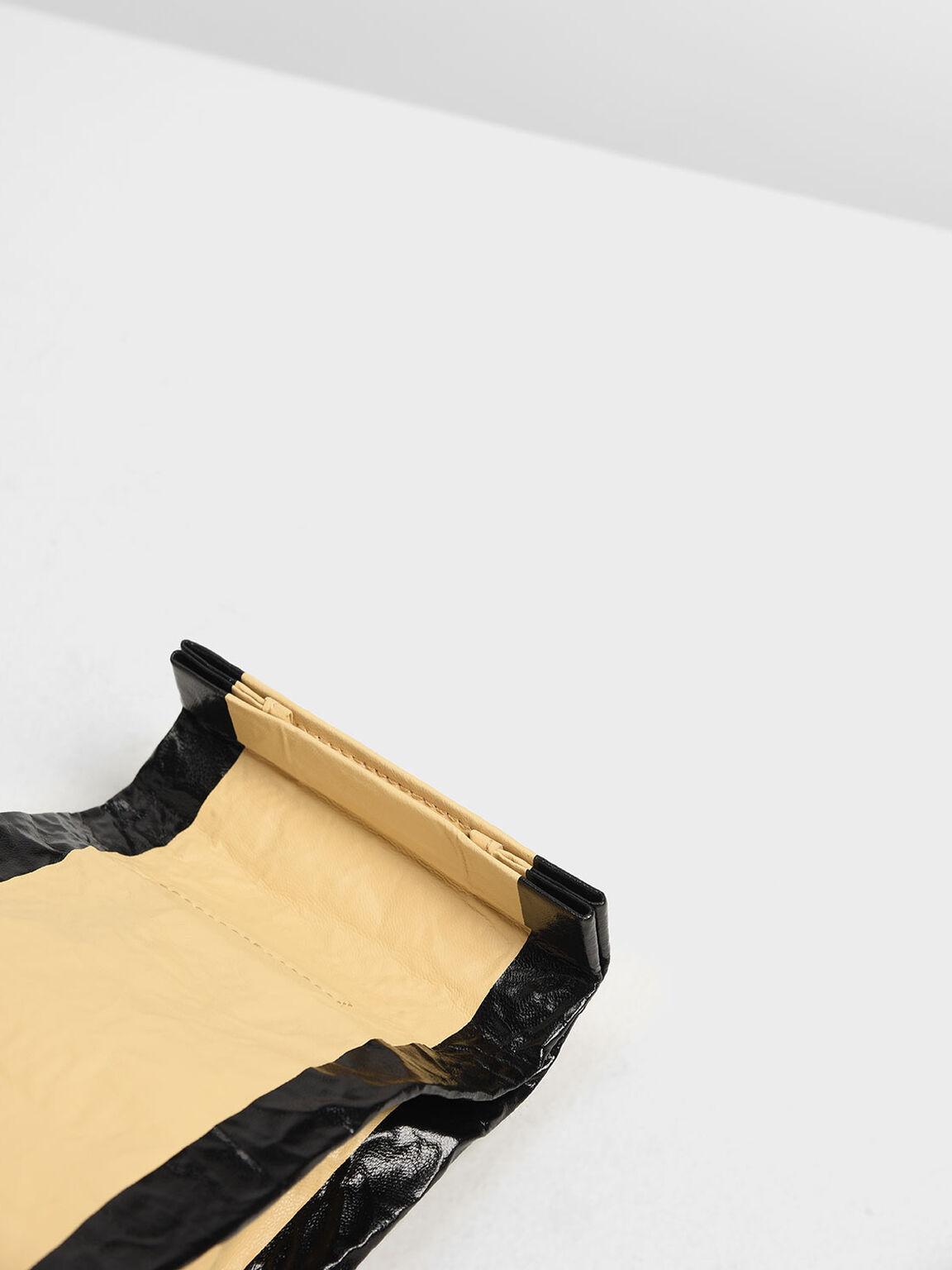 Paper Bag Clutch, Yellow, hi-res