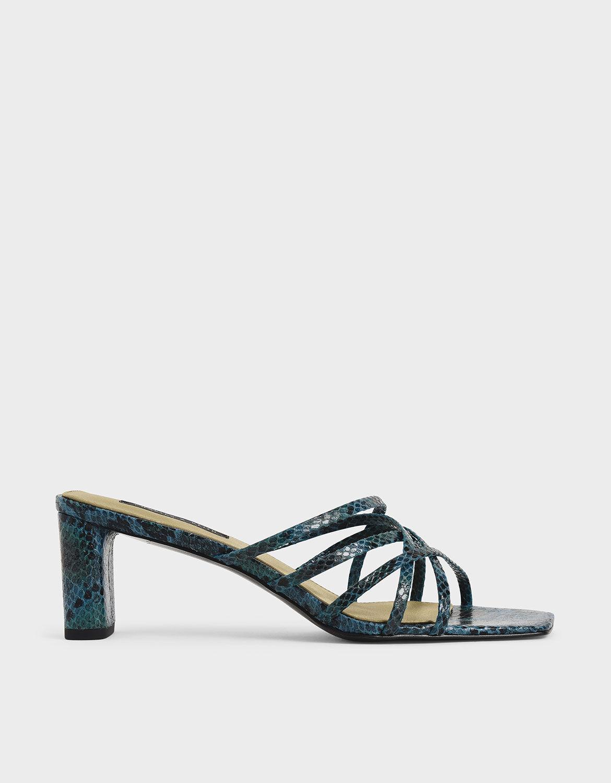 animal print strappy heels