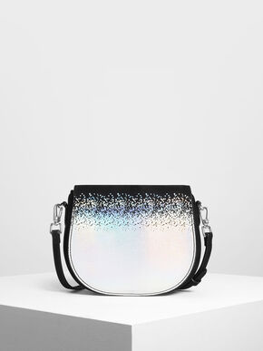 Kids Holographic Gradient Crossbody Bag, Multi, hi-res