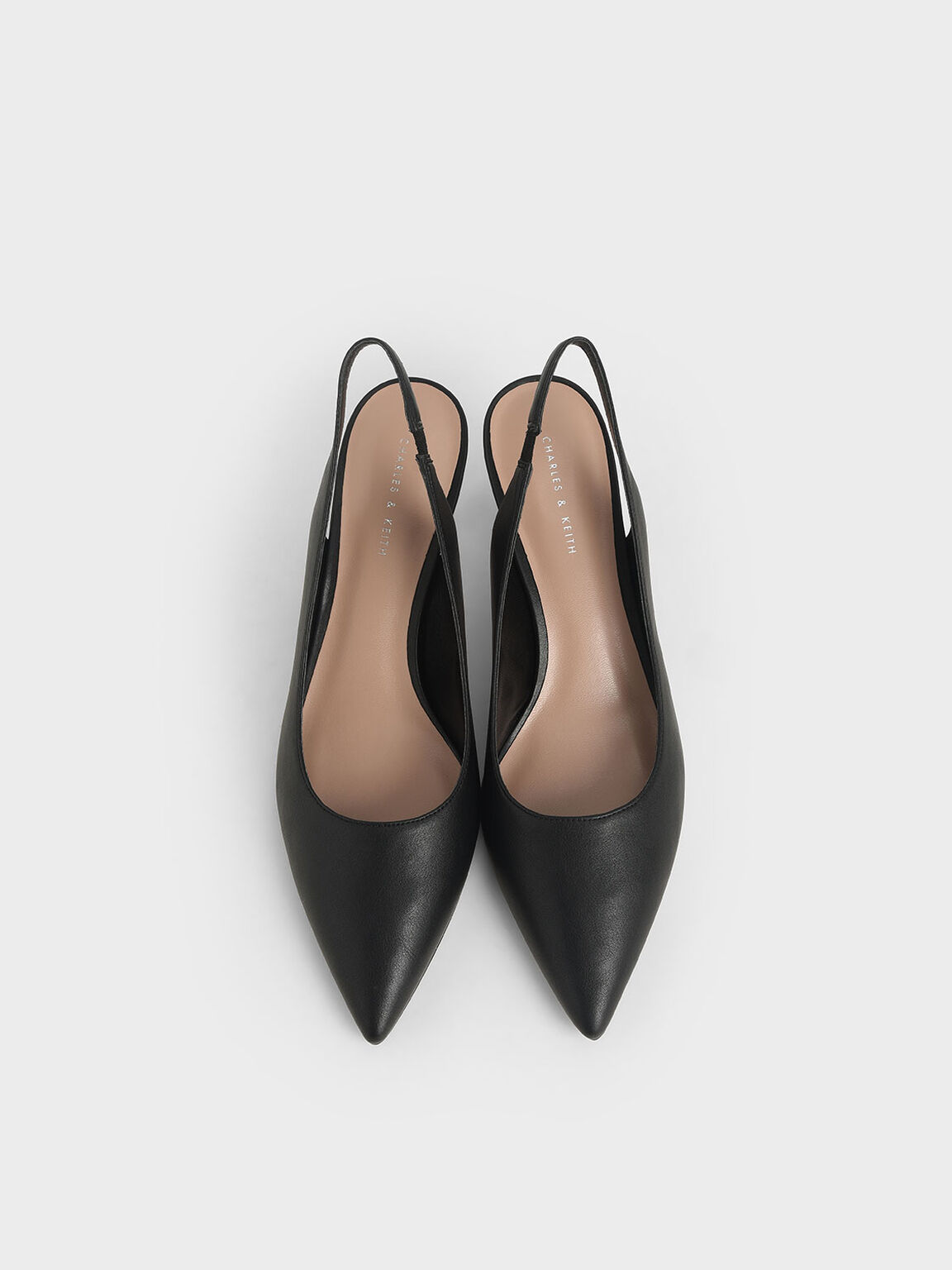 尖頭圓環跟鞋, 黑色, hi-res