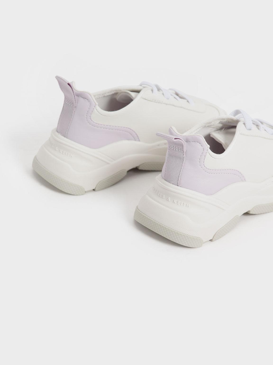 兒童綁帶厚底鞋, 白色, hi-res