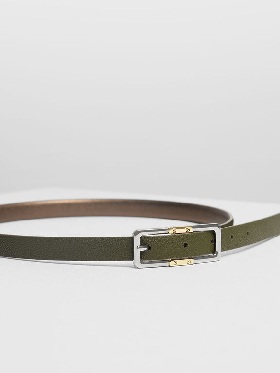 Reversible Thin Belt, Bronze